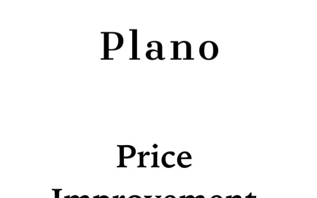 Price Improvement Announcement